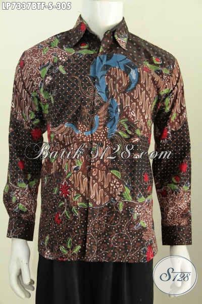 Hem Batik Klasik Elegan Lengan Panjang Untuk Lelaki Muda Tampil Berwibawa, Hadir Dengan Motif Terkini Kombinasi Tulis Daleman Full Furing Hanya 305K [LP7337BTF-S]