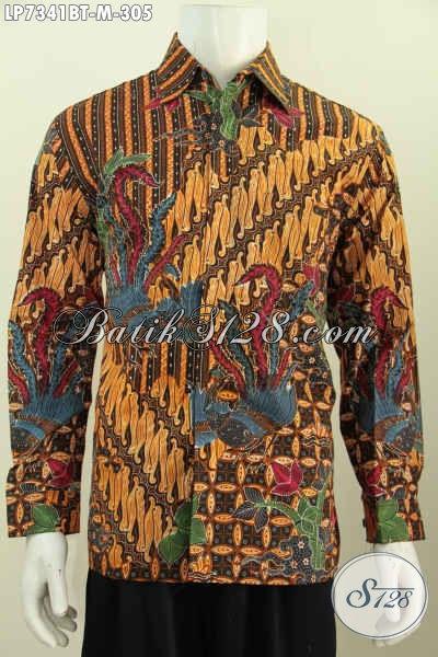 Pusat Baju Batik Online, Sedia Kemeja Batik Modern Lengan Panjang Halus Motif Bagus Proses Kombinasi Tulis Yang Bikin Penampilan Cowok Makin Berkelas [LP7341BTF-M]