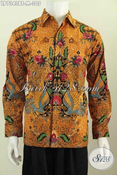 Toko Online Kemeja Batik Solo, Baju Batik Mewah Halus Harga Terjangkau Asli Buatan Solo Proses Kombinasi Tulis Daleman Pake Furing [LP7343BTF-M]
