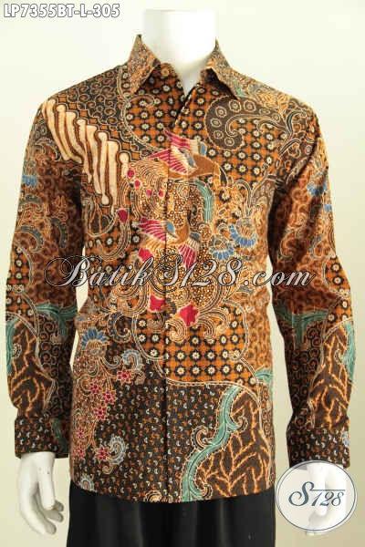 Model Kemeja Batik Pria Terkini, Hem Batik Halus Kombinasi Tulis Untuk Tampil Lebih Gagah Dengan Daleman Full Furing Size L Harga 305K