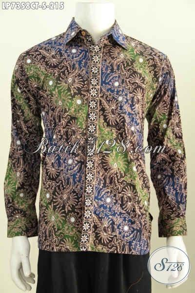 Produk Baju Batik Lengan Panjang Halus Harga Terjangkau Motif Keren Proses Cap Tulis Harga 200 Ribuan [LP7358CT-S]