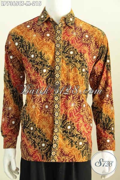 Baju Hem Batik Istimewa Harga 200 Ribuan, Busana Batik Desain Terbaru Lebih Modis Dan Berkelas Motif Proses Cap Tulis, Size M