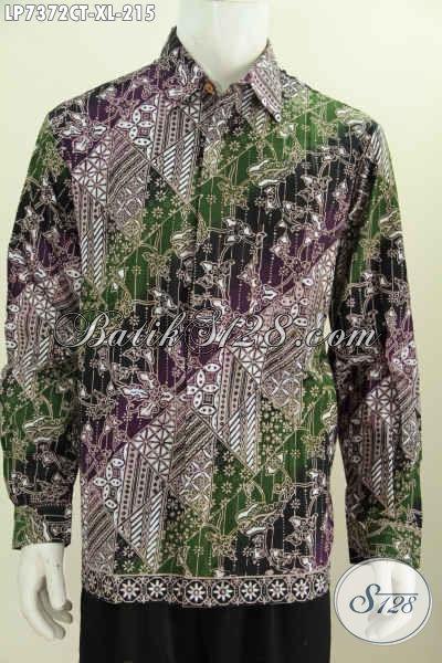 Hem Batik Modis Motif Unik Untuk Pria Dewasa Ukuran XL Kemeja Batik Trend Masa Kii Untuk