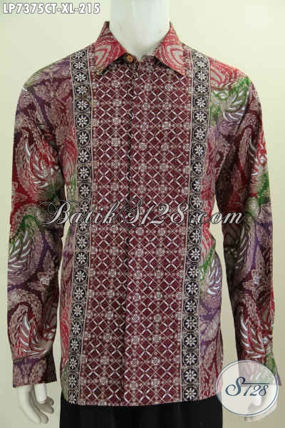 Toko Pakaian Batik Modern Sedia Baju Batik Lengan Panjang Cap Tulis Bahan Halus Motif Keren Harga 200 Ribuan Size XL