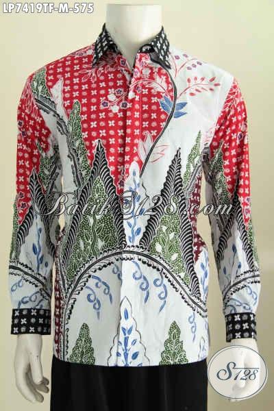 Produk Baju Batik Pria Terbaru, Hem Lengan Panjang Premium Bahan Adem Motif Bagus Full Furing Di Jual Online 500 Ribuan, Size M