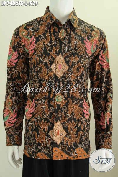 Baju Batik Formal Motif Klasik, Pakaian Batik Tulis Lengan Panjang Full Furing Untuk Penampilan Lebih Berwibawa [LP7423TF-L]