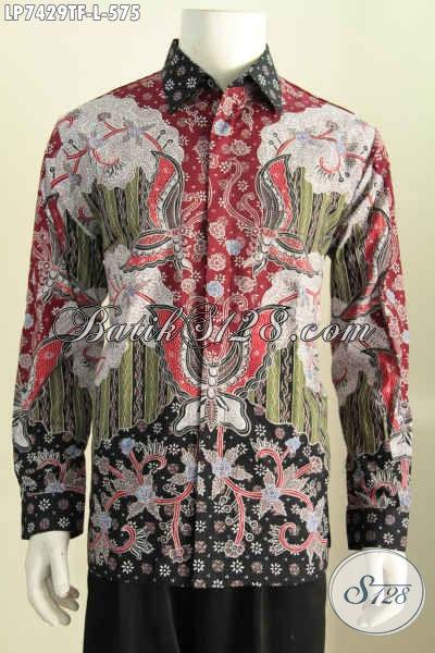 Jual Baju Batik Online, Kemeja Batik Mewah Halus Full Furing Lengan Panjang Motif Tulis Asli Harga 500 Ribuan, Size L