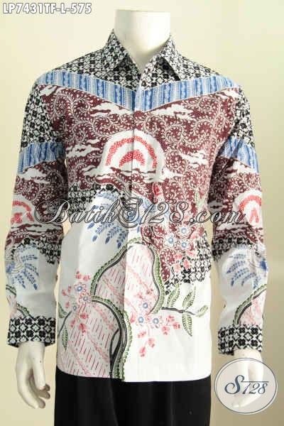 Toko Online Batik Solo, Jual Hem Batik Premium Motif Terkini Proses Tulis, Baju Batik Lengan Panjang Premium Untuk Penampilan Lebih Istimewa [LP7431TF-L]