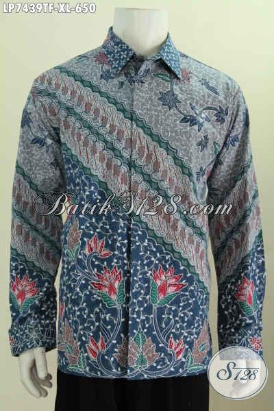 Koleksi Terbaru Toko Batik Online, Hem Lengan Panjang Mewah Full Tulis Buatan Solo Motif Bagus Daleman Di Lengkapi Furing Harga 500 Ribuan [LP7439TF-XL]