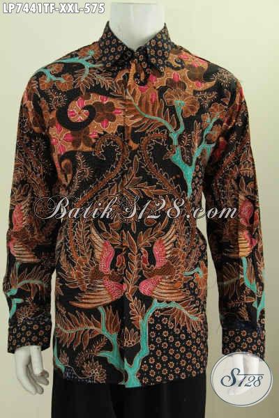 Hem Batik Bagus 3L, Kemeja Batik Pria Gemuk Lengan Panjang Full Furing Motif Mewah Tulis Tangan Harga 575K [LP7441TF-XXL]