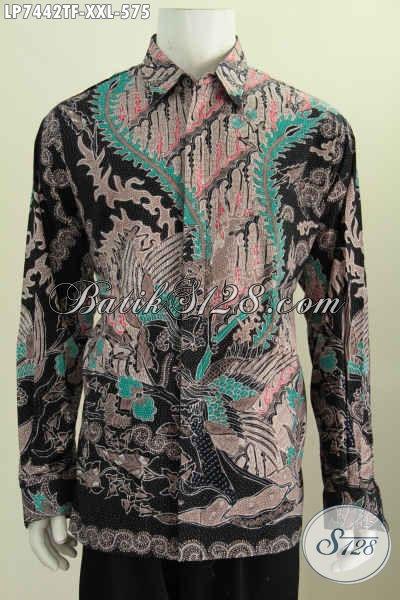 Hem Batik Formal Terkini, Baju Batik Elegan Size XXL Spesial Buat Pria Gemuk Kwalitas Premium Lengan Panjang Full Furing Proses Tulis Asli [LP7442TF-XXL]