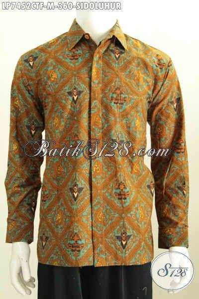 Hem Batik Klasik Solo Size M, Pakaian Batik Buat Kerja Dan Acara Formal Lengan Panjang Pake Furing 360 Ribu [LP7452CTF-M]