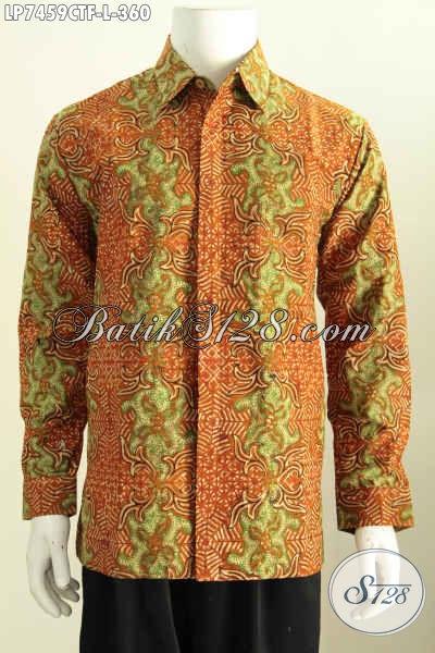 Hem Batik Solo Kwalitas Premium, Baju Batik Elegan Motif Klasik Untuk Pria Muda Dan Dewasa Proses Cap Tulis Harga 300 Ribuan [LP7459CTF-L]