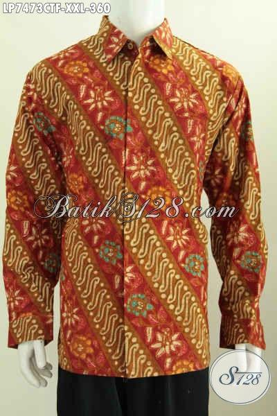 Batik Hem Lengan Panjang Klasik Berbahan Halus Motif Terbaru Proses Cap Tulis Daleman Di Lengkapi Furing Harga 360K [LP7473CTF-XXL]