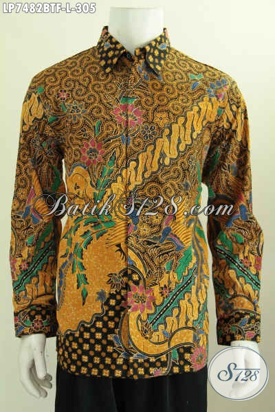 Baju Kemeja Lengan Panjang Full Furing Motif Trend Masa Kini, Berbahan Adem Proses Kombinasi Tulis Di Jual Online 305K [LP7482BTF-L]