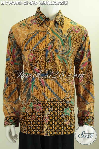 Model Baju Batik Lengan Panjang Pria 2017, Pakaian Batik ELegan Berkelas Untuk Penampilan Lebih Istimewa, Size XL