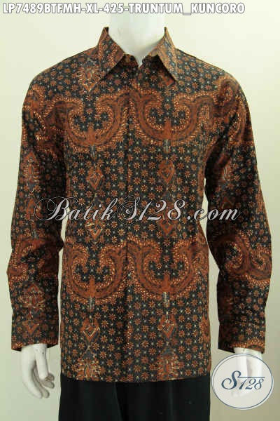 Kemeja Batik Lengan Panjang Mewah Motif Truntum Kuncoro, Baju Batik Klasik Kombinasi Tulis Lengan Panjang Daleman Full Furing Harga 425K [LP4889BTFMH-XL]