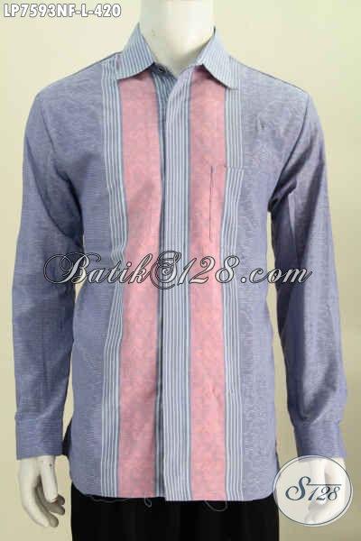 Baju Tenun Premium, Busana Berkelas Bahan Halus Adem Nyaman Di Pakai Model Lengan Panjang Full Furing [LP7593NF-L]