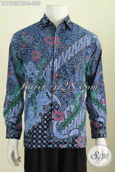 Hem Batik Solo Lengan Panjang Berkelas Motif Bagus Proses Kombinasi Tulis Daleman Pakai Furing Hanya 300 Ribuan [LP7683BTF-S]