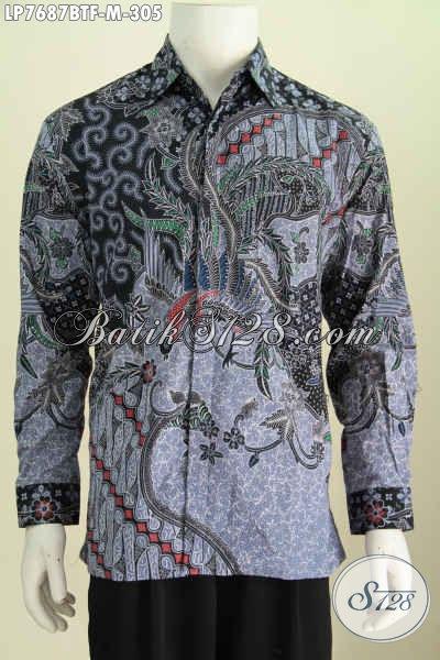 Baju Batik Terkini Untuk Pria Muda , Hem Batik Lengan Panjang Pake Furing Motif Bagus Kombinasi Tulis Bikin Penampilan Lebih Istimewa [LP7687BTF-M]