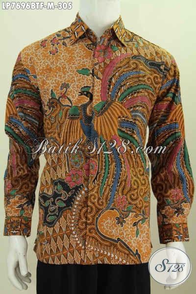 Batik Hem Keren Lengan Panjang, Baju Batik Solo Istimewa Full Furing Bahan Adem Proses Kombinasi Tulis Di Jual Online 305 Ribu [LP7696BTF-M]