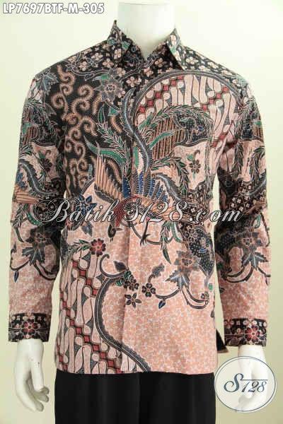 Baju Batik Istimewa, Hem Batik Kwalitas Premium Lengan Panjang Full Furing Untuk Tampil Lebih Istimewa [LP7697BTF-M]