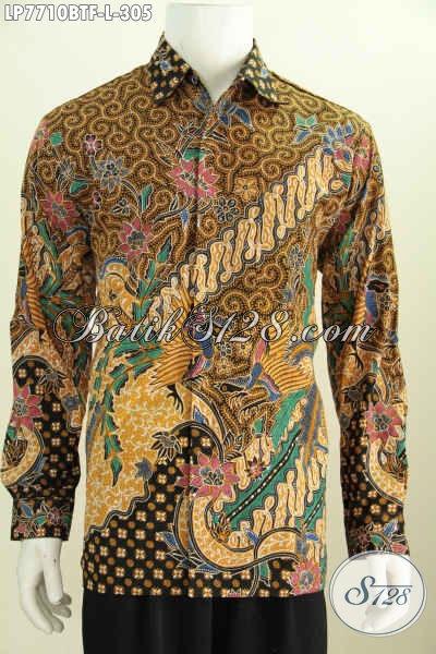 Agen Baju Batik Online Paling Up To Date, Sedia Kemeja Full Furing Lengan Panjang Motif Klasik Kombinasi Tulis Tampil Lebih Berkelas [LP7710BTF-L]