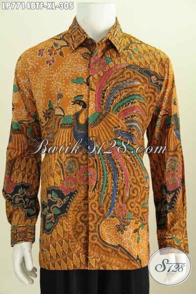 Pusat Baju Batik Online, Sedia Hem Lengan Panjang Halus Proses Kombinasi Tulis Daleman Pake Furing Untuk Tampil Mewah Berkelas [LP7714BTF-XL]