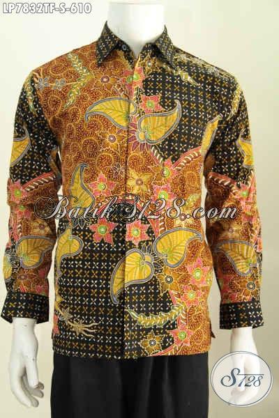 Kemeja Lengan Panjang Premium, Hem Batik Mewah Full Furing, Pakaian Batik Berkelas Untuk Pejabat Dan Eksekutif 600 Ribuan [LP7832TF-S]