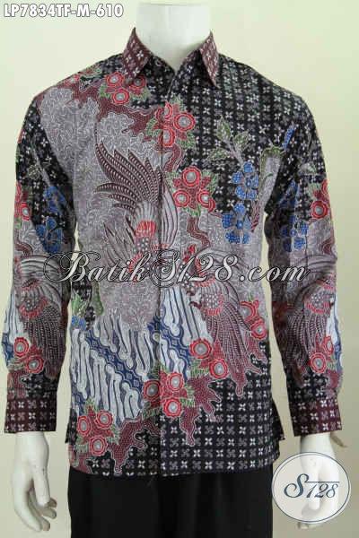 Toko Pakaian Batik Premium Online, Sedia Kemeja Lengan Panjang Mewa 600 Ribuan Full Furing Motif Bagus Proses Tulis [LP7834TF-M]