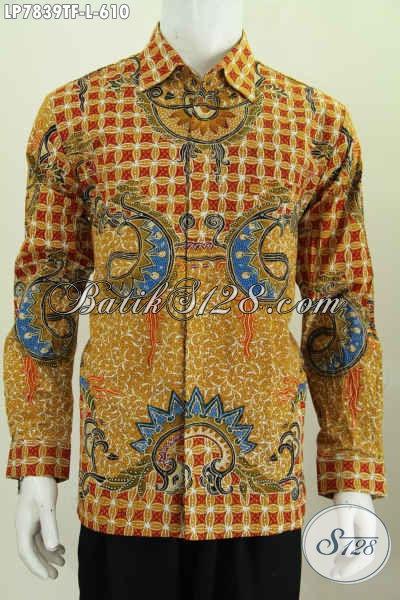 Busana Batik Tulis Lengan Panjang Ukuran L, Kemeja Batik Khas Pejabat Spesial Untuk Pria Karir Sukses Harga 610K