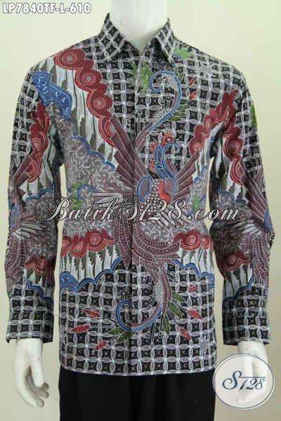 Jual Baju Batik Tulis Premium Motif Mewah Full Furing Model Lengan Panjang, Pakaian Batik Para Executive Dan Pejabat Masa Kini [LP7840TF-L]