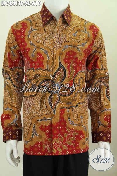 Pusat Baju Batik Mewah Online, Toko Pakaian Batik Premium Terpercaya Langganan Para Eksekutif Dan Pejabat, Sedia Kemeja Batik Tulis 600 Ribuan [LP7841TF-XL]