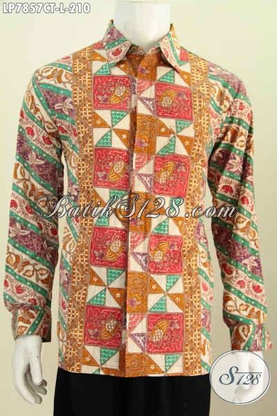 Model kemeja batik pria terbaru lengan panjang