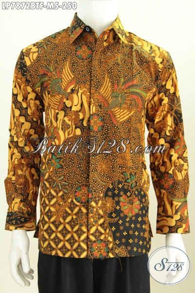 Online Shop Pakaian Batik Paling Up To Date, Kemeja Batik Halus Lengan Panjang Full Furing Motif Mewah Kombinasi Tulis Harga 250K [LP7872BTF-M]