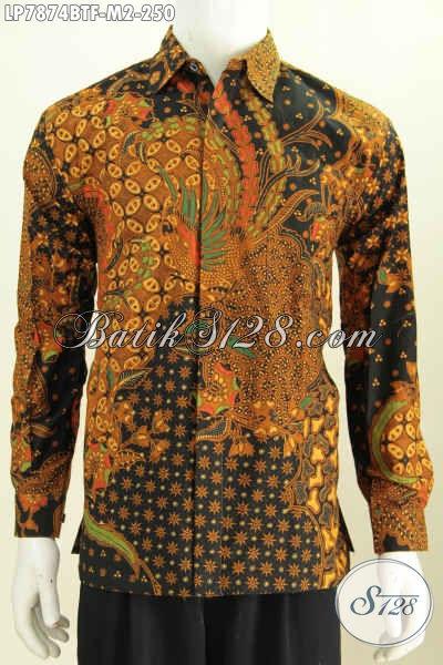 Pakaian Batik Modern Nan Mewah, Kemeja Batik Solo Istimewa Khas Jawa Tengah Proses Kombinasi Tulis Bahan Adem Nyaman Untuk Cuaca Panas [LP7874BTF-M]