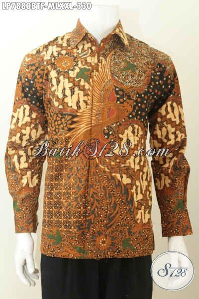 Baju Kemeja Batik Elegan Berkelas Buatan Solo Model Lengan Panjang Motif Klasik Daleman Full Furing Harga 330K [LP7880BTF-M , L , XXL]