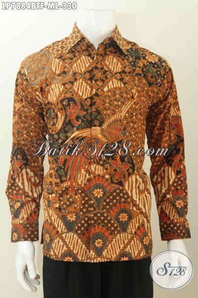 Toko Pakaian Batik Online Jual Hem Halus Lengan Panjang Full Furing Bahan Adem Motif Mewah Kombinasi Tulis Hanya 330K [LP7884BTF-M]