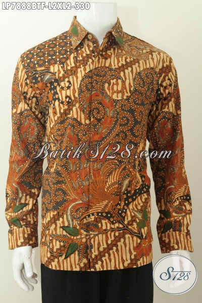 Pakaian Batik Lengan Panjang Istimewa, Hem Batik Solo Untuk Pria Tampil Tamapan Berwibawa Model Lengan Panjang Full Furing Harga 330 Ribu [LP7888BTF-L]