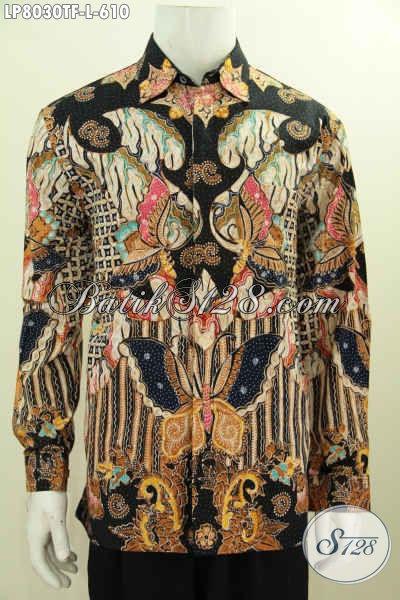 Jual Baju Batik Pejabat Online, Pakaian Batik Solo Premium Pake Furing Model Lengan Panjang, Baju Batik Tulis Istimewa Untuk Penampilan Lebih Berkelas [LP8030TF-L]