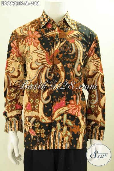 Batik Tulis Pria Eksklusif motif burung Phoenix a.k.a Hong simbol keabadian