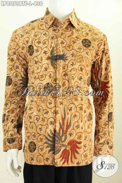Pakaian Batik Untu Rapat Model Lengan Panjang Full Furing, Baju Batik Kwalitas Premium Motif Klasik Kombinasi Tulis Harga 400 Ribuan [LP8053BTF-L]