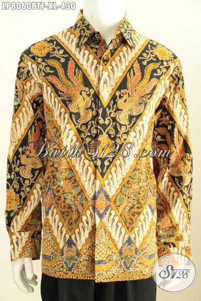 Koleksi Terbaru Kemeja Batik Premium Untuk Pria, Hem Batik Kombinasi Tulis Lengan Panjang Full Furing Motif Klasik Di Jual Online 430K [LP8060BTF-XL]