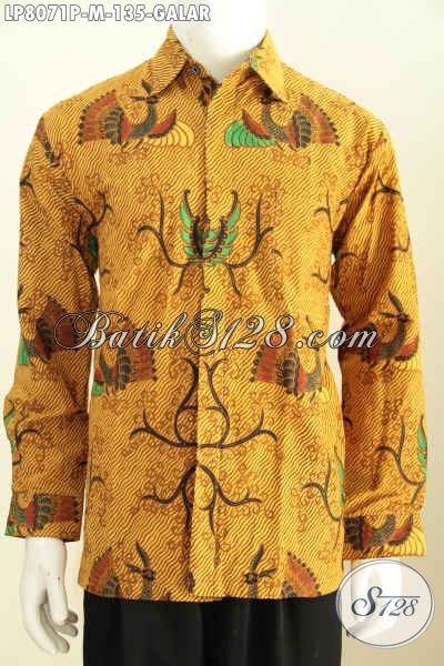 Jual Onine Hem Batik Klasik Motif Galar, Kemeja Batik Elegan Halus Proses Printing Menunjang Penampilan Pria Lebih Istimewa [LP8071P-M]