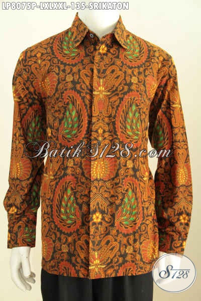 Toko Baju Batik Online Paling Up To Date, Sedia Hem Batik Halus Lengan Panjang Motif Srikaton, Baju Batik Klasik Printing Hanya 135K Kwalitas Istimewa [LP8075P-L , XL , XXL]