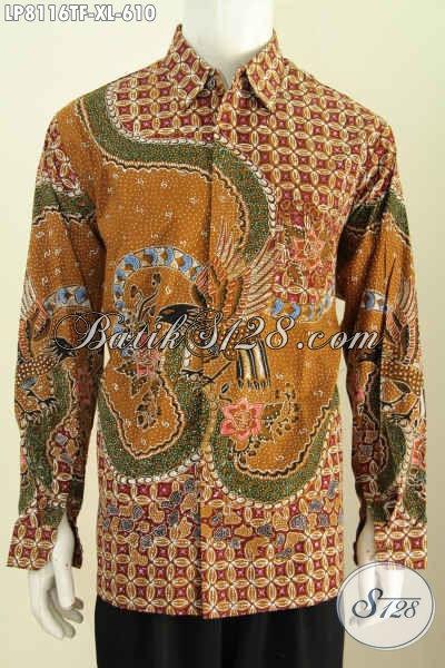 Online Shop Baju Batik Premium, Sedia Kemeja Pria Lengan Panjang Mewah Full Furing Motif Terkini Cocok Untuk Rapat Dan Kondangan Harga 600 Ribuan [LP8116TF-XL]