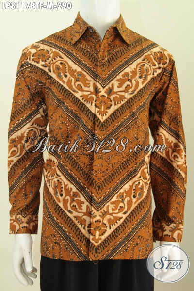 Baju Batik Klasik Lengan Panjang Halus Proses Kombinasi Tulis, Baju Batik Solo Full Furing Tampil Elegan Berkelas Hanya Dengan 290K [LP8117BTF-M]