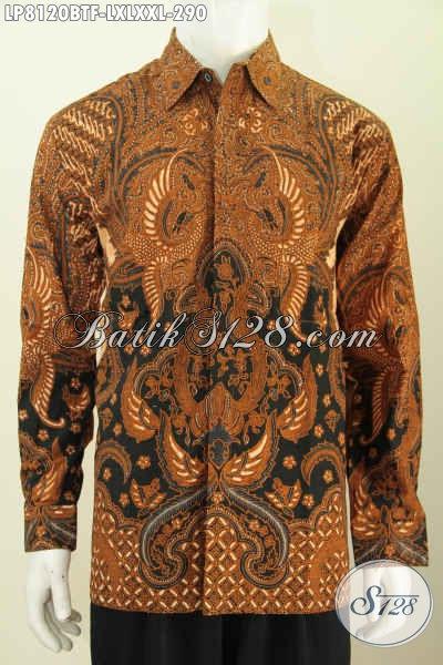 Batik Hem Klasik Halus Lengan Panjang Full Furing Buatan Solo Asli Bahan Adem Harga 290 Ribu [LP8120BTF-L]