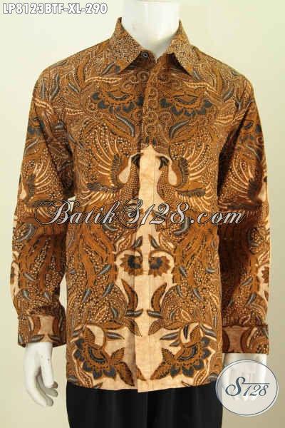 Jual Hem Batik Lengan Panjang Full Furing Halus Motif Klasik Kombinasi Tulis, Pakaian Batik Pria Dewasa Untuk Terlihat Berkelas [LP8123BTF-XL]