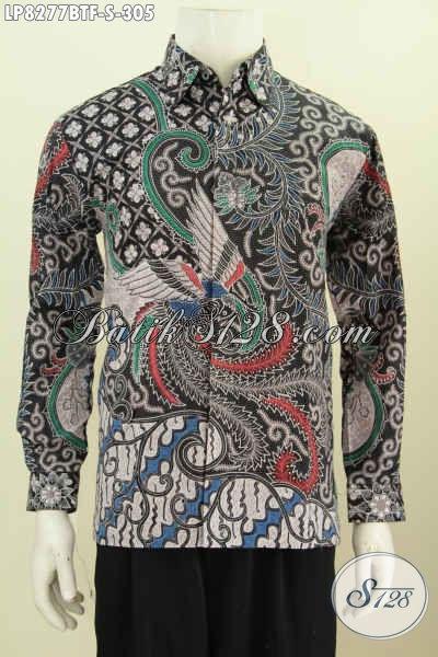 Baju Batik Full Furing Motif Mewah Lengan Panjang Size S, Kemeja Batik ELegan Masa Kini Proses Kombinasi Tulis Di Jual Online 305K [LP8277BTF-S]